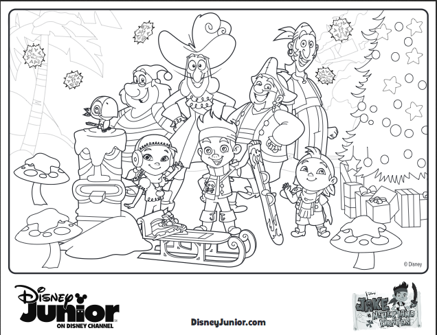 10 Disney Holiday Crafts For Kids Pirate Coloring Pages Christmas Coloring Pages Coloring Pages