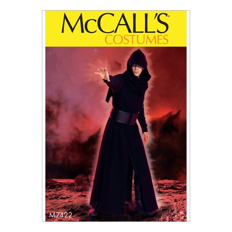 Amazon.com: McCall Pattern Company M7422 Men\'s Coat, Surcoat, Hood ...