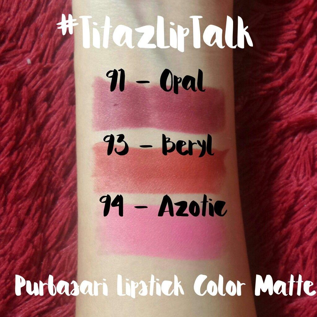 Purbasari Lipstick Color Mate No 91 93 94 Titazliptalk Matte