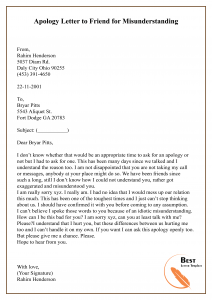Apology Letter Template To A Friend Sample Example Best Letter Template Apology Letter To Friend Letter To Best Friend Lettering