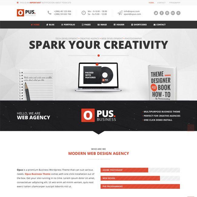 Opus MultiPurpose Business WordPress Theme | Best WordPress Themes ...
