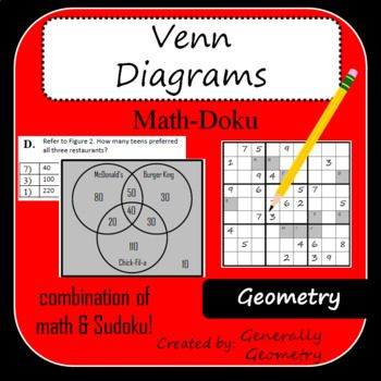 Venn Diagrams Math Doku Geometry Sudoku Logic Venn Diagrams