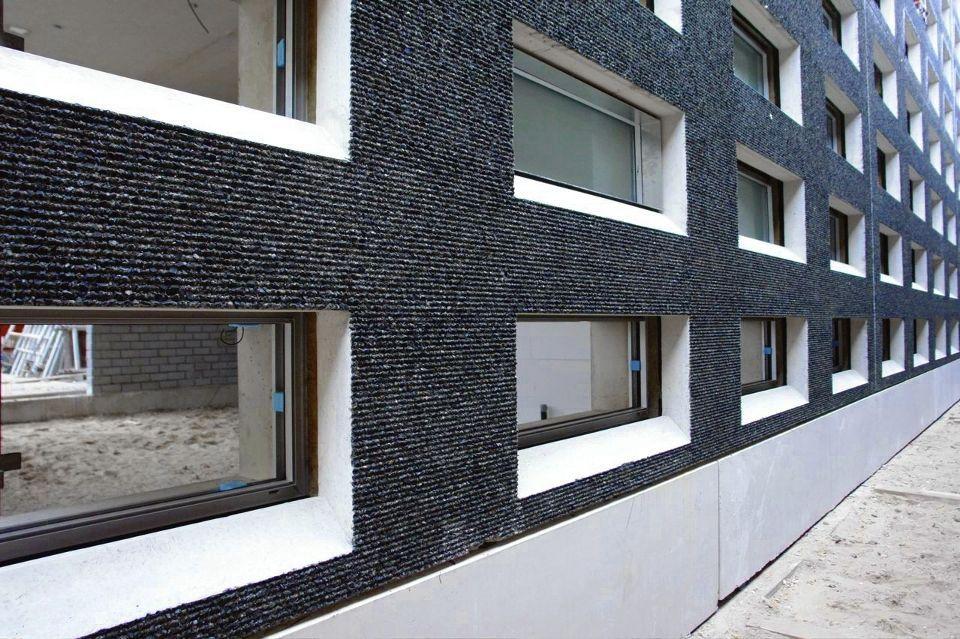 reinforced concrete cladding bush hammered panel. Black Bedroom Furniture Sets. Home Design Ideas