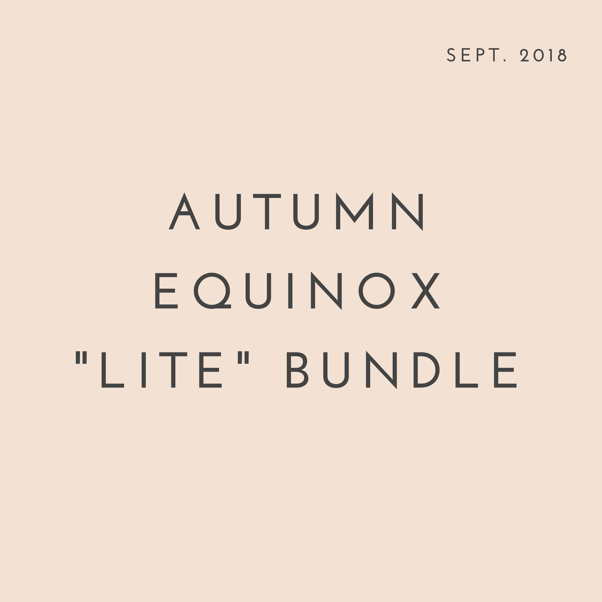 September 2018 - Autumn Equinox Meditation, Aromatherapy Blend, & Fall Playlist #autumnalequinox