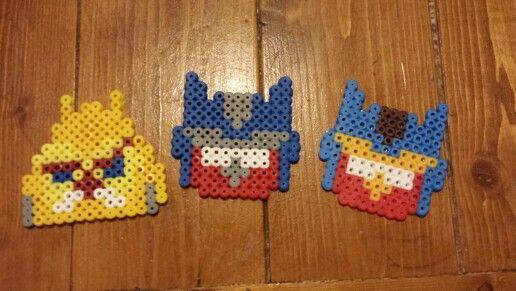 Angry Bird Transformer Perler Beads Crafts Perler