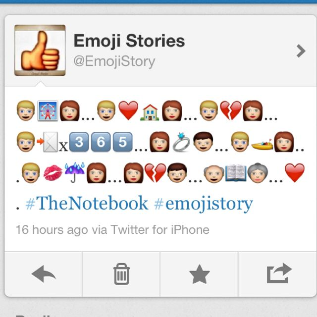 The Story Of The Notebook In Emojis Cute Emoji Stories Movies And Tv Shows I Movie