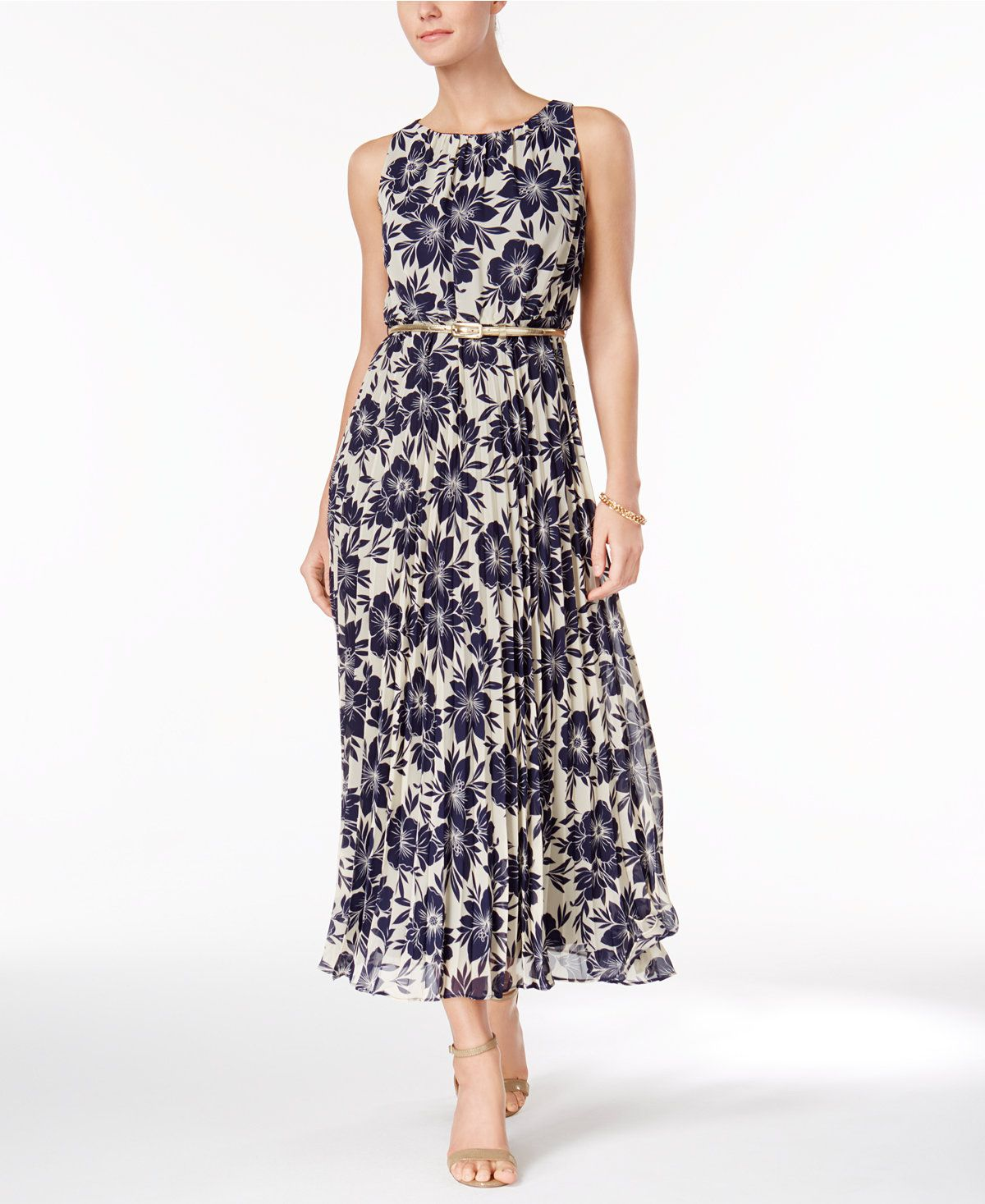 72a3624e7f Jessica Howard Petite Chiffon Floral-Print Maxi Dress - Petite Maxi Dress -  SLP - Macy s