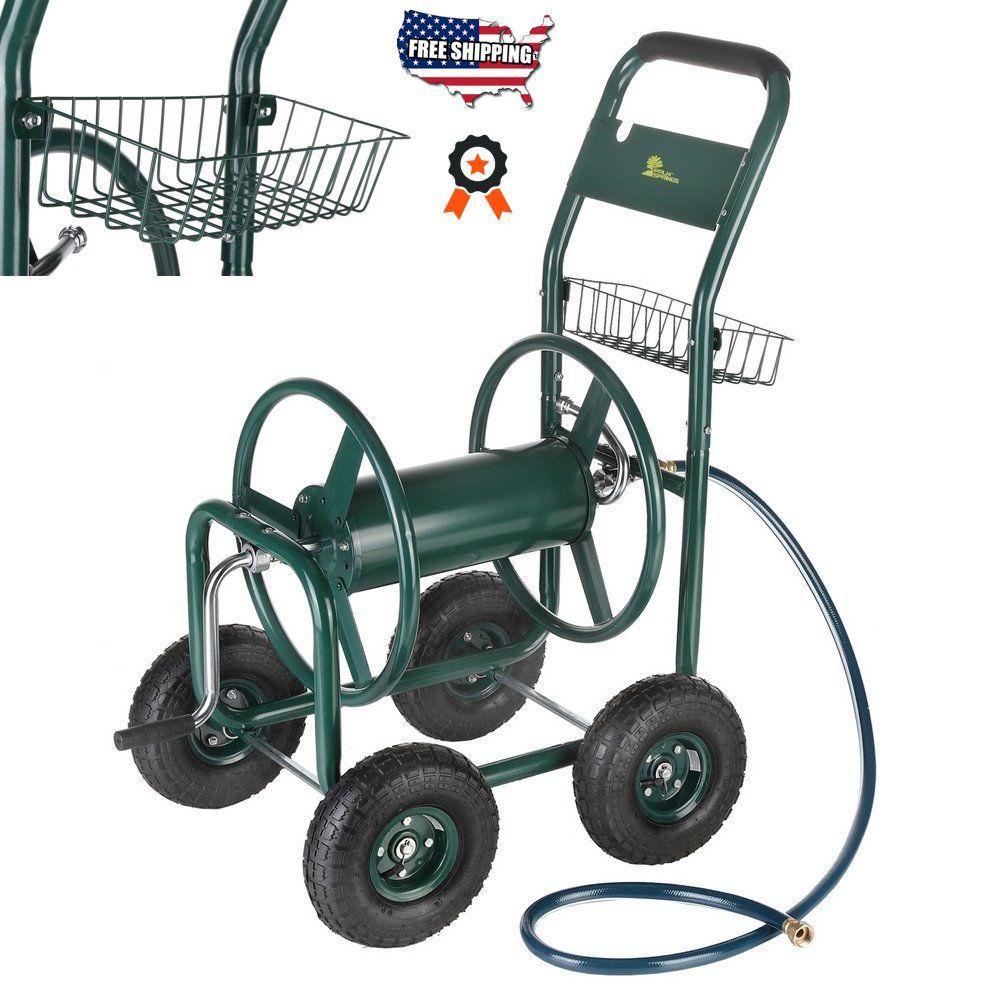 Garden Hose Reel Cart 300 ft. Water Outdoor Heavy Duty