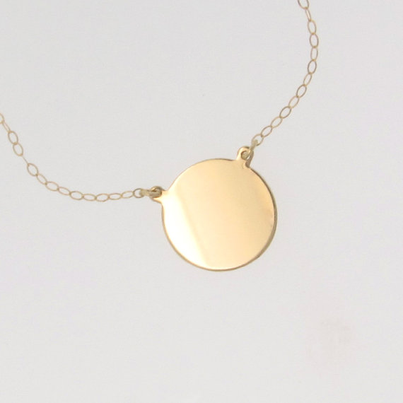 14k solid gold disc necklace katie holmes by classicdesigns 14k solid gold disc necklace katie holmes by classicdesigns 13900 gold disc necklacecircle pendant mozeypictures Choice Image