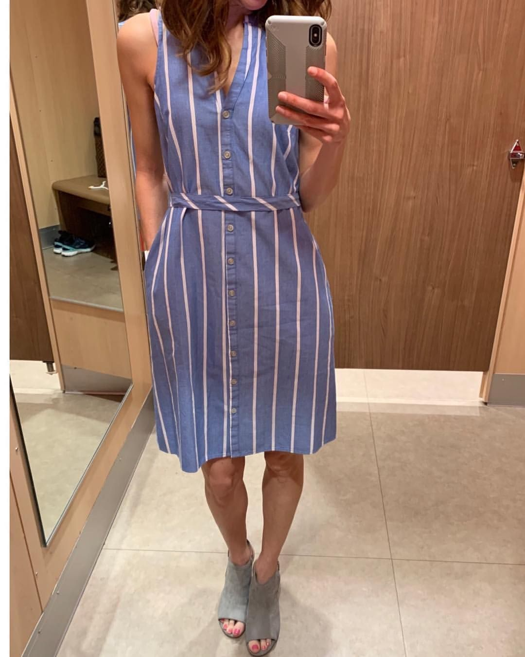 Spring Sumner Casual Dress From Target Striped Sleeveless Dress Spring Casual Casual [ 1350 x 1080 Pixel ]