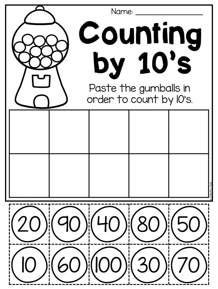 Counting By 10 S Worksheet Kindergarten Place Value Pack This Packet Is Kindergarten Math Free Kindergarten Math Worksheets Free Kindergarten Math Worksheets