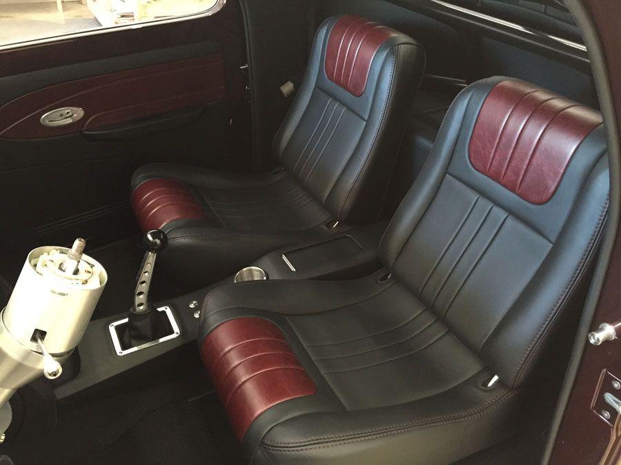1941 willys custom leather hot rod interior custom car - Custom leather interior for trucks ...