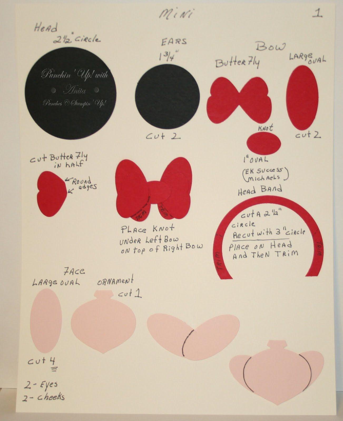 Minnie Mouse Jordan 2nd Bday Punch Art