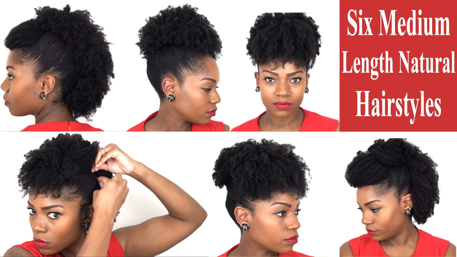 Six Fabulous Hairstyles For Medium Length Natural Hair Great For All Occasion African American Hairstyle Videos Aahv Natural Hair Styles Medium Length Hair Styles Natural Hair Styles Easy