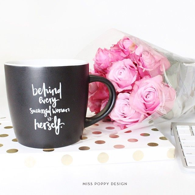 """""""NEW // so excited that our new mug design is finally here! It's a little different to our other mugs and we LOVE it! Lettering by the amazing @dandymoon…"""""""