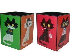 Porta lápis Gatos
