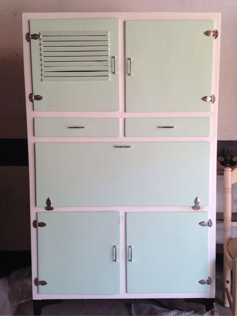 Antigua alacena de cocina de los a os 50 restaurada medidas 1 70 alto x 98 furniture pinterest - Muebles de cocina en cartagena ...