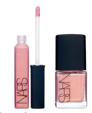 bridal shower favors nail polish or lip gloss wrapped in blackpink tissue