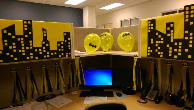Batman Cubicle Decor Halloween Cubicle Cubicle Decor Batman Decor