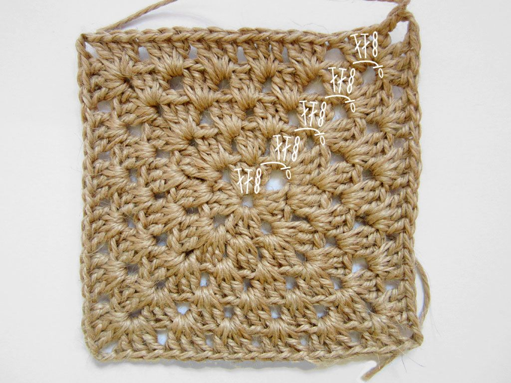 crocheter en carré