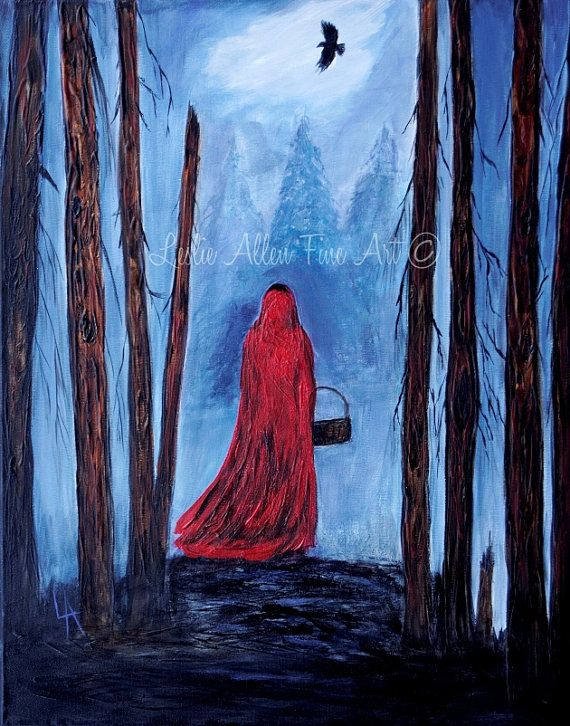 Little Red Riding Hood Painting Fantasy By LeslieAllenFineArt 10000