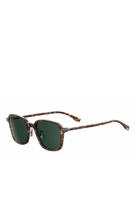 86da52c76d2 Hugo Boss Green Lens Havana Square Sunglasses