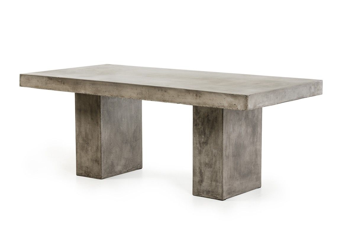 Modrest Saber Modern Concrete Dining Table Concrete Dining Table