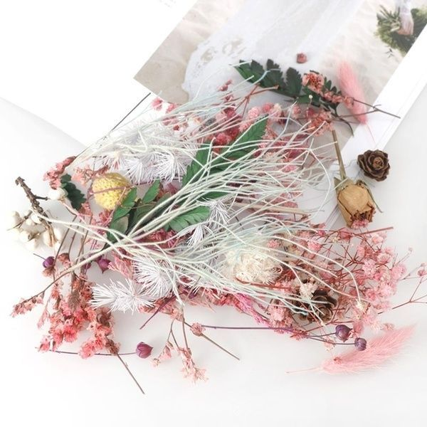 1 Box Real Dried Flower Dry Plants for Aromatherapy Candle Epoxy Resin Pendant Necklace Jewelry Making Craft DIY Accessories #aromatherapycandles Box, flowersampplant, Flores, Joyería - 9 #aromatherapycandles
