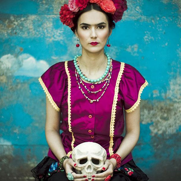 disfraz de frida kahlo halloween costume ideas pinterest personnage et mode. Black Bedroom Furniture Sets. Home Design Ideas