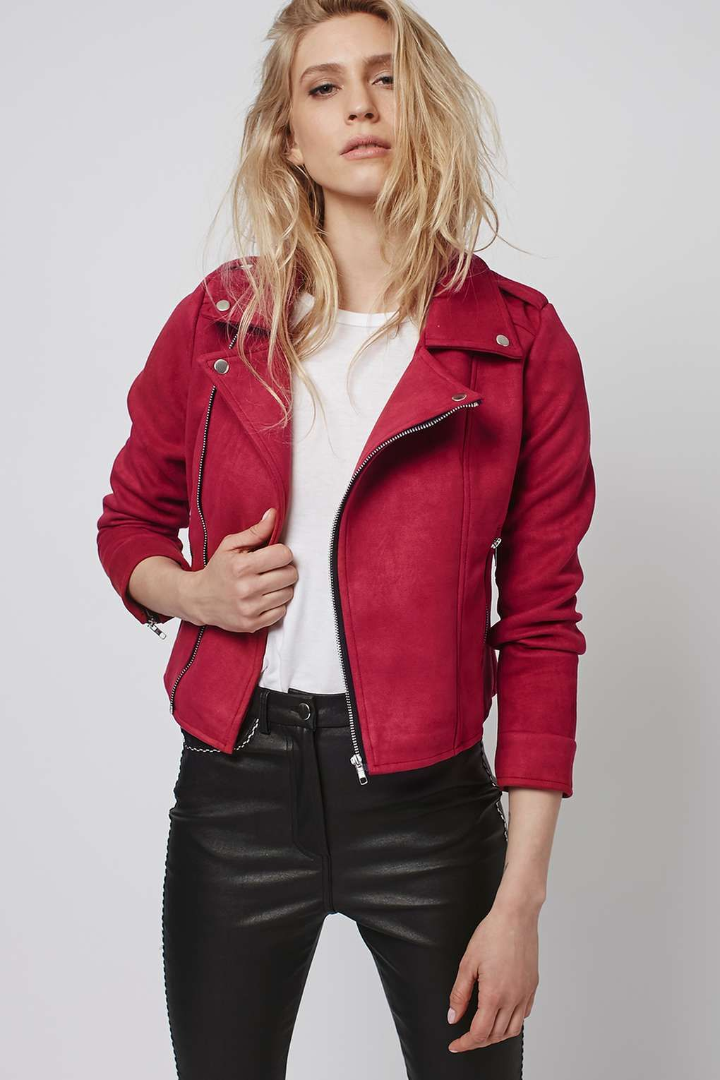 Lone Rider - Red Faux Suede Jacket by Goldie - Jackets & Coats ...