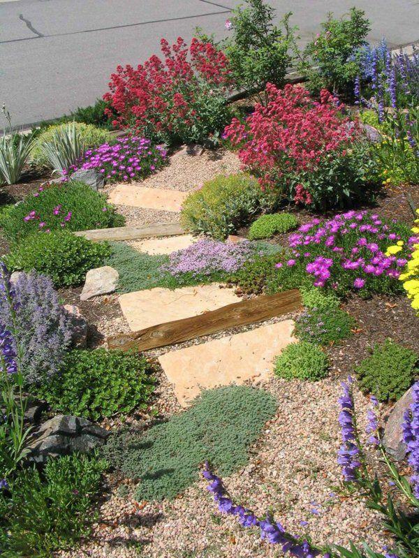 gartengestaltung ideen steingarten am hang | garten | pinterest, Garten Ideen