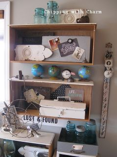 collected junk open office space, craft rooms, home decor, home office, shelving ideas, storage ideas