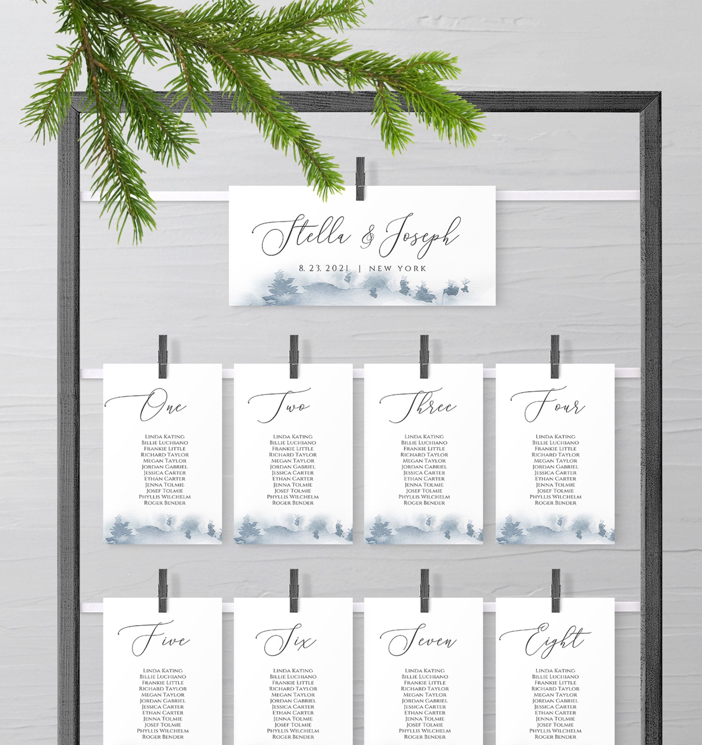 Pine Wedding Seating Chart Card Template Table Seating Chart Etsy Seating Chart Wedding Wedding Seating Printable Wedding Invitations