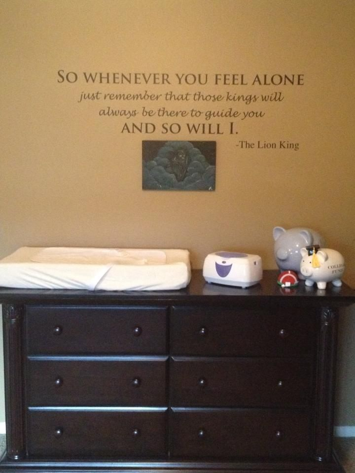 Lion King Nursery Room Quote Painting
