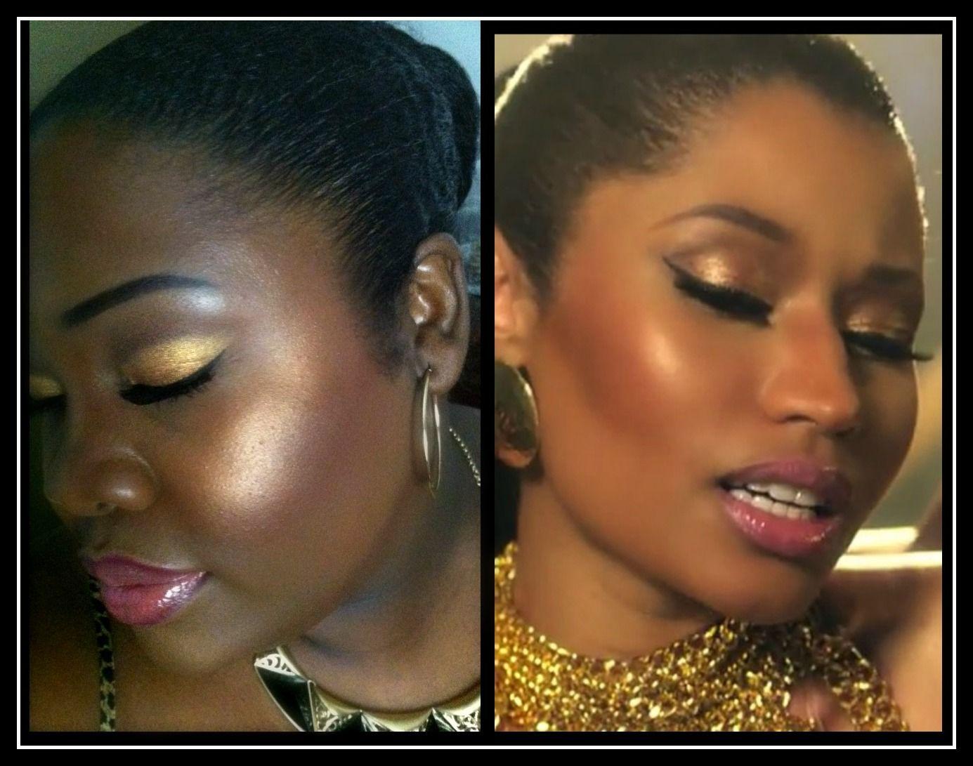 """Nicki Mnaj """"Anaconda"""" inspired makeup for dark skin. Check"""