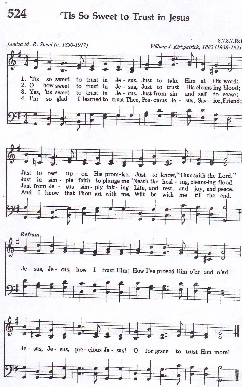 Tis So Sweet to Trust In Jesus (Hymn) SATB   Hymns   Trust