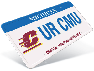 Displaying Your Chippewa Pride Everywhere You Ride Central Michigan University Central Michigan Michigan
