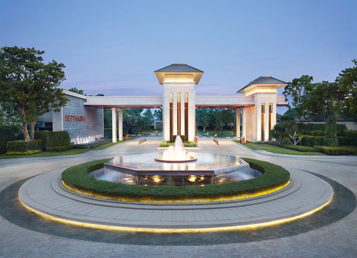 Pin by pongsakorn thongkam tha on drop off pinterest for Entrance landscape design