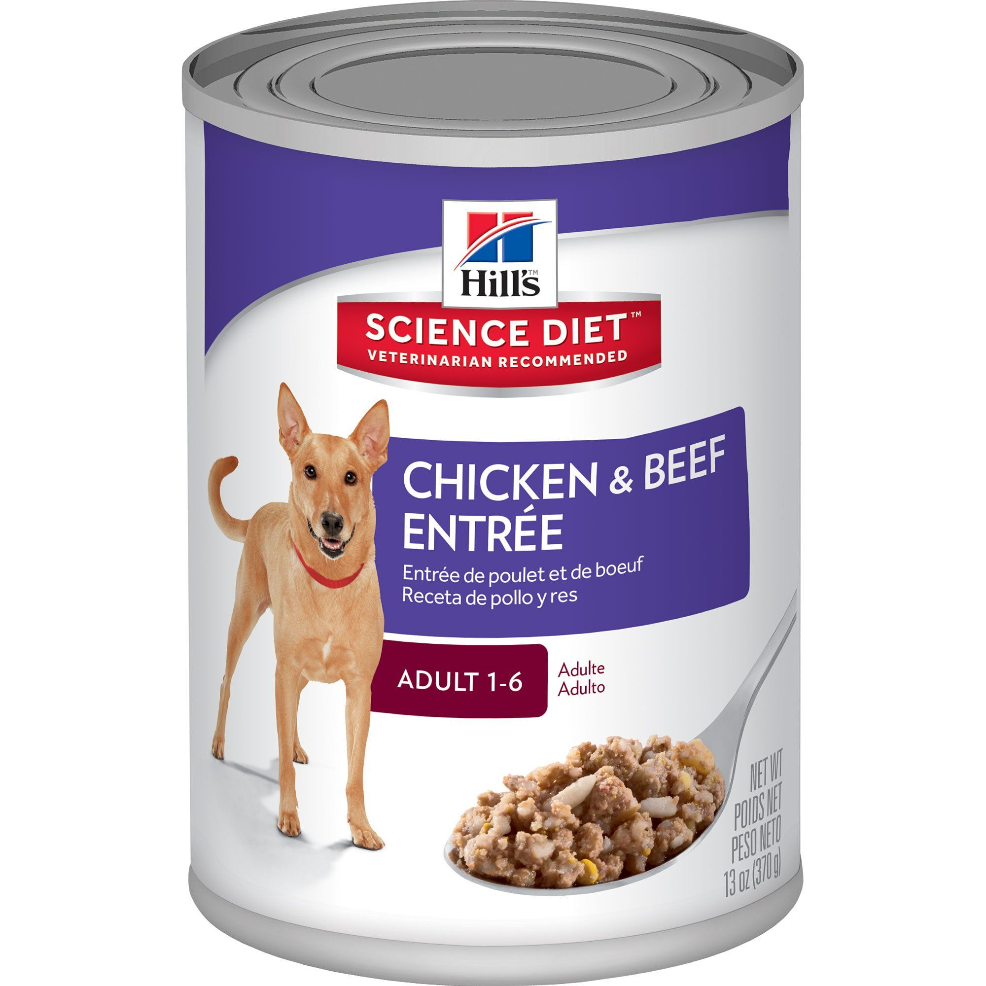 Hill S Science Diet Adult Chicken Beef Entree Canned Dog Food