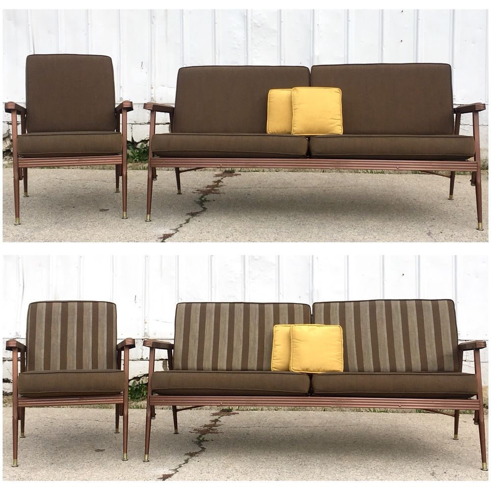 Best Vintage Mid Century Modern Couch Sofa Chair Set Indoor 400 x 300