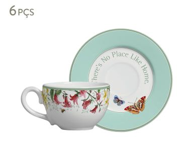 Jogo de Xícaras para Chá com Pires Butterfly I
