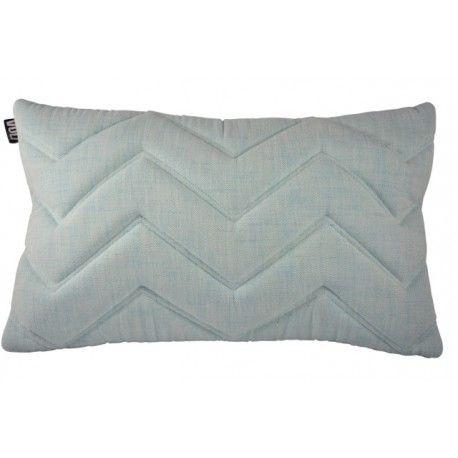 Cushion 3D Zigzag Turquoise/Ivory