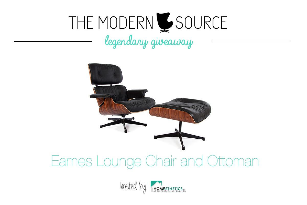 Legendary Eames Lounge Chair and Ottoman [GIVEAWAY] True