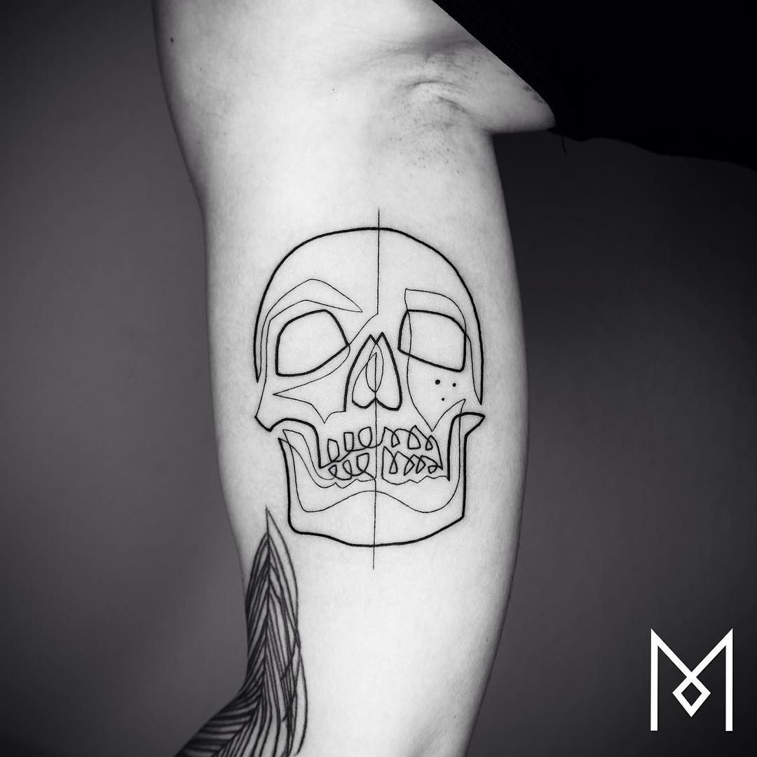 Beautifully Minimalist Single Line Tattoos