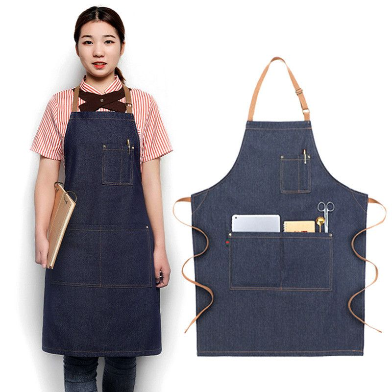 Unisex Aprons With Large Pocket At Front Premium Quality Kitchen Textiles