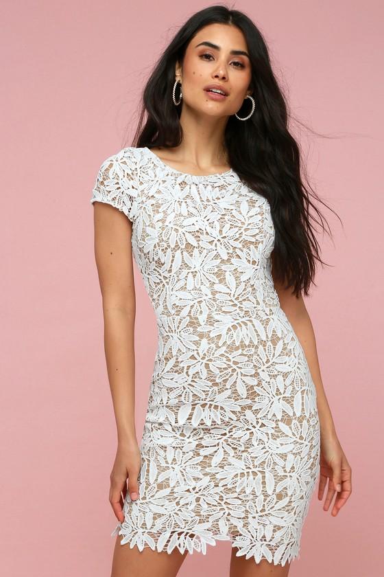 20+ White sheer lace dress info