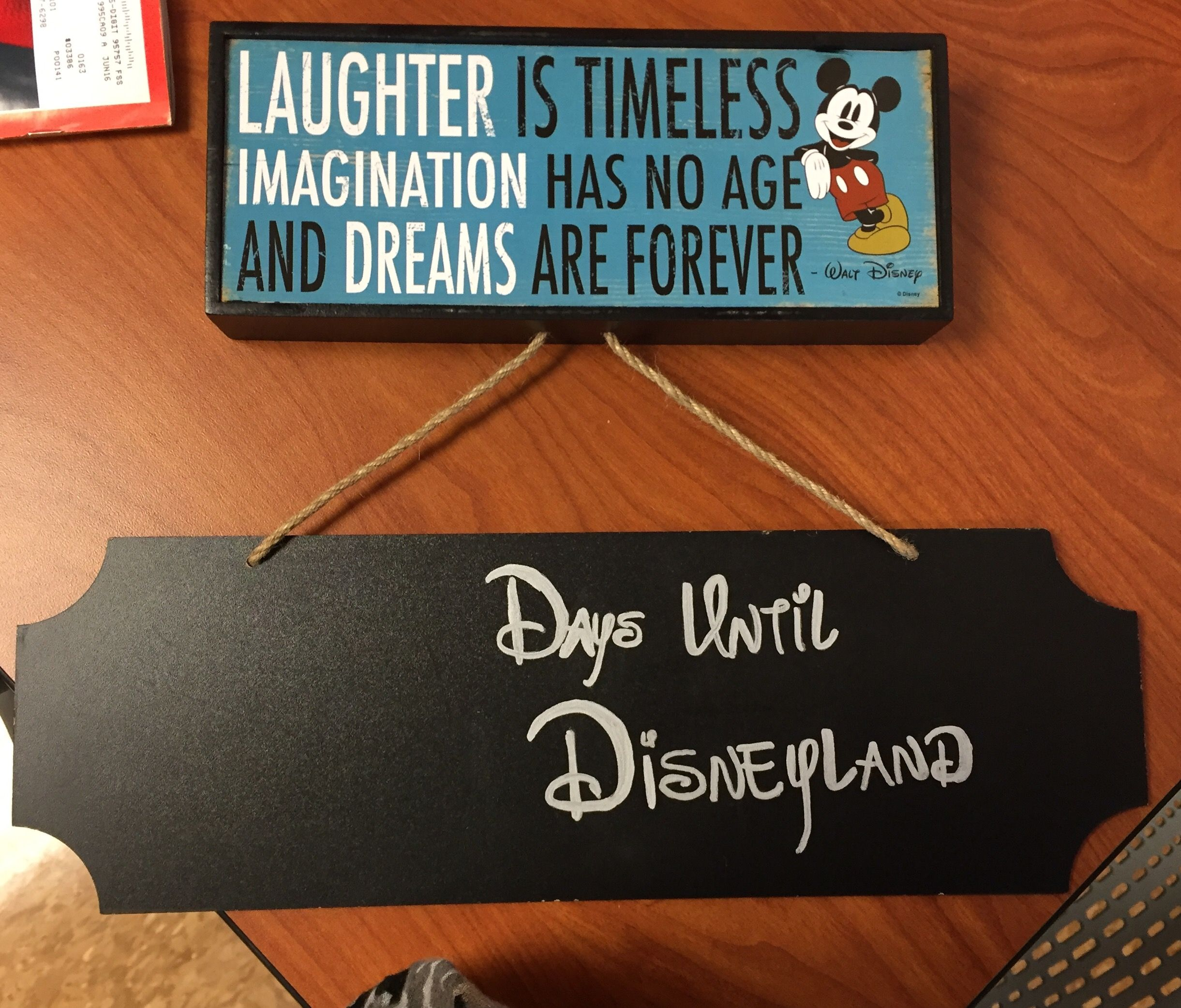 Disneyland Chalkboard Countdown. Made this for Christmas gift for surprise Disneyland trip.