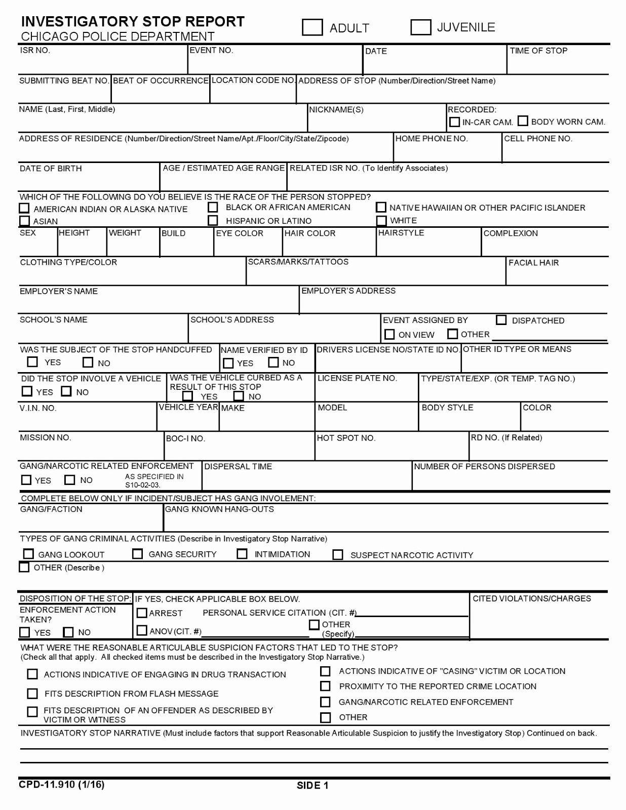 Police Arrest Report Template In 2020 Ticket Template Blank