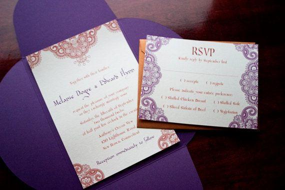 Henna Moroccan Wedding Invitation