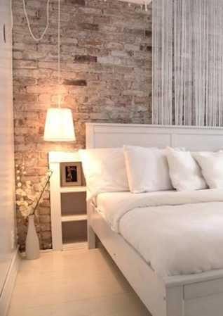 Vintage Wall In Modern Bedroom Brick Wall Bedroom Brick Bedroom